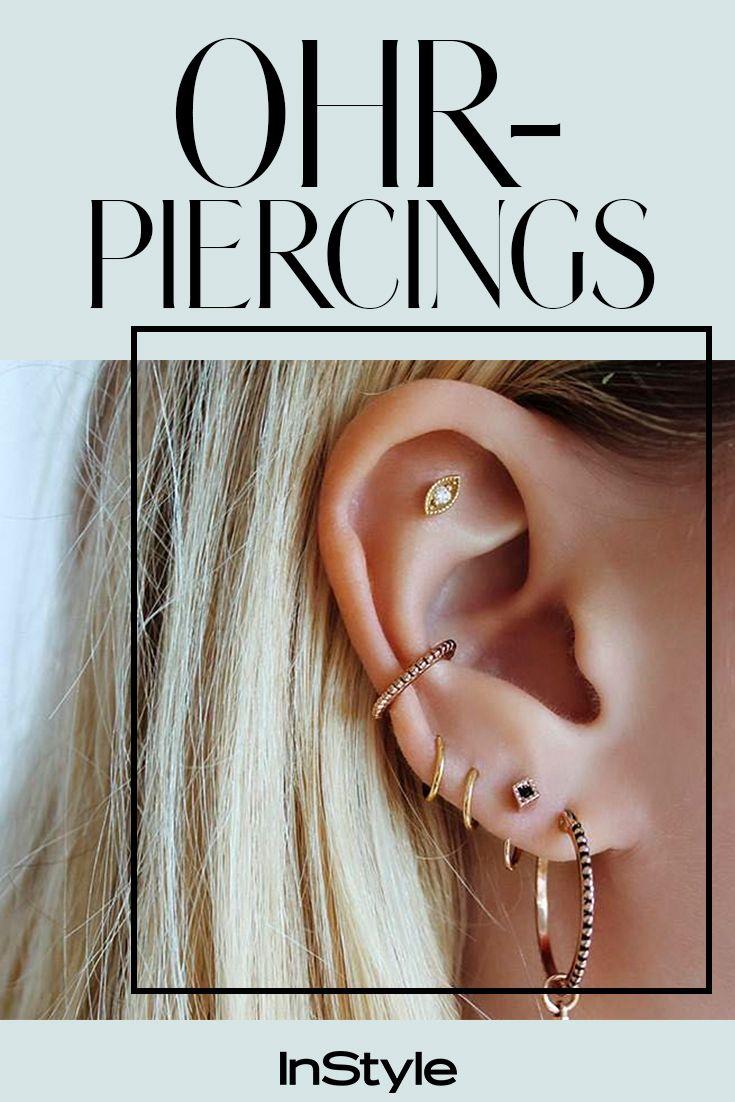 Piercing arten ohr  So sexy diese  Ohrpiercings wollen diesen Sommer alle  Pinterest