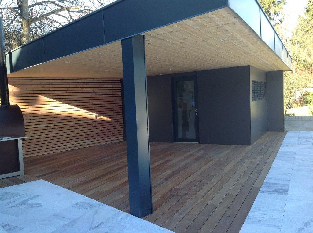 Construction d\'un abri de jardin design en ossature bois en Alsace ...