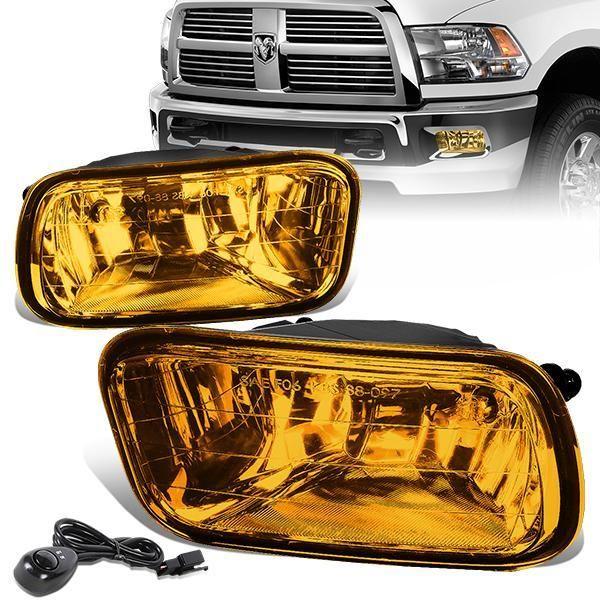 09 12 Dodge Ram 1500 2500 3500 Amber Lens Fog Lights W Switch Bulbs Dodge Ram 1500 Ram 1500 Dodge Ram
