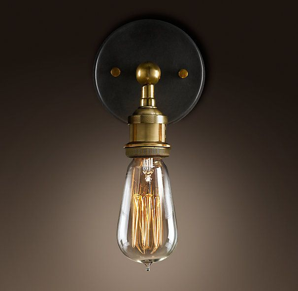 brass barn lights the minimalist downtown era style sconces sconce raw bulb lighting wall edison minimal