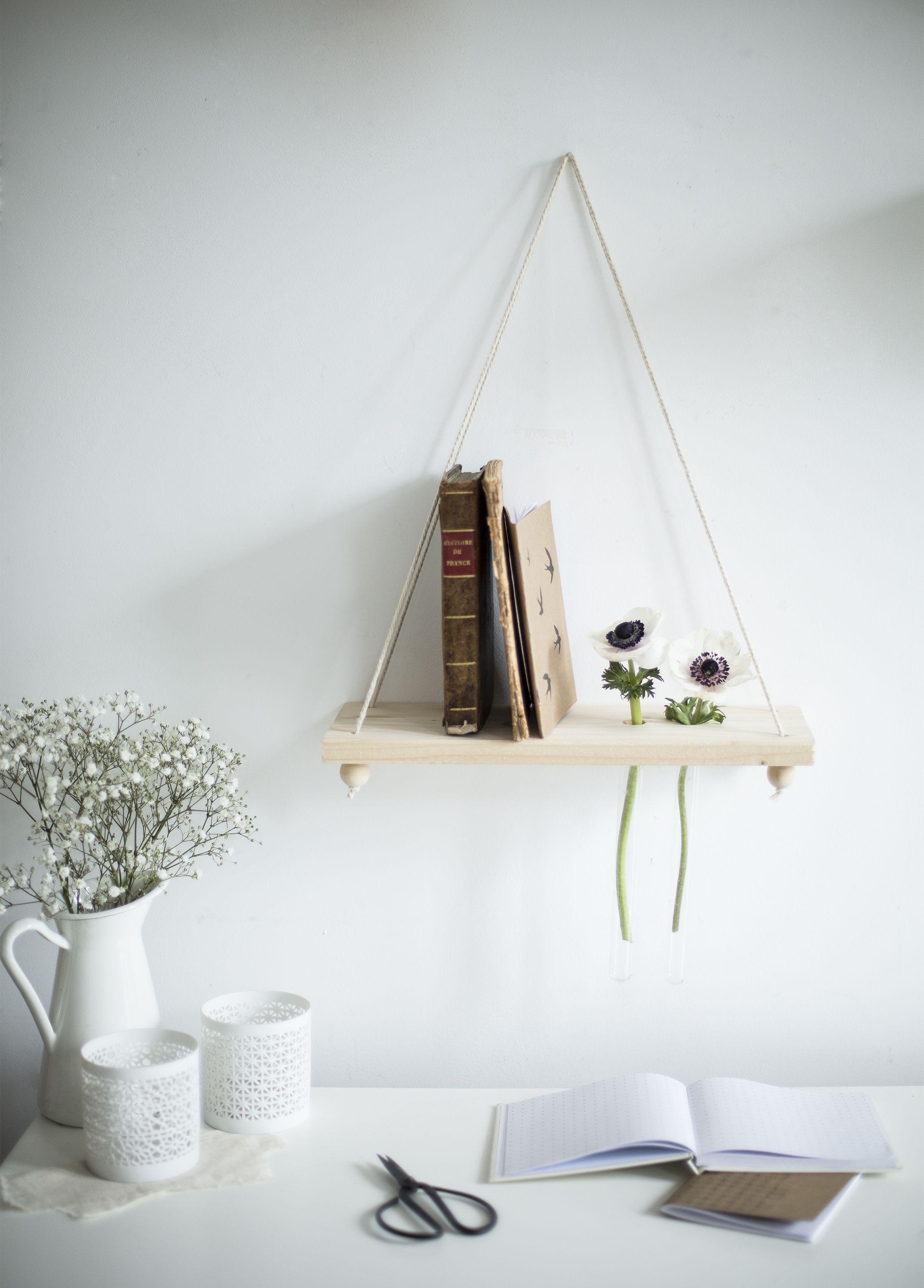 DIY ] Minimalist flower shelf- La Délicate Parenthèse | diy ...