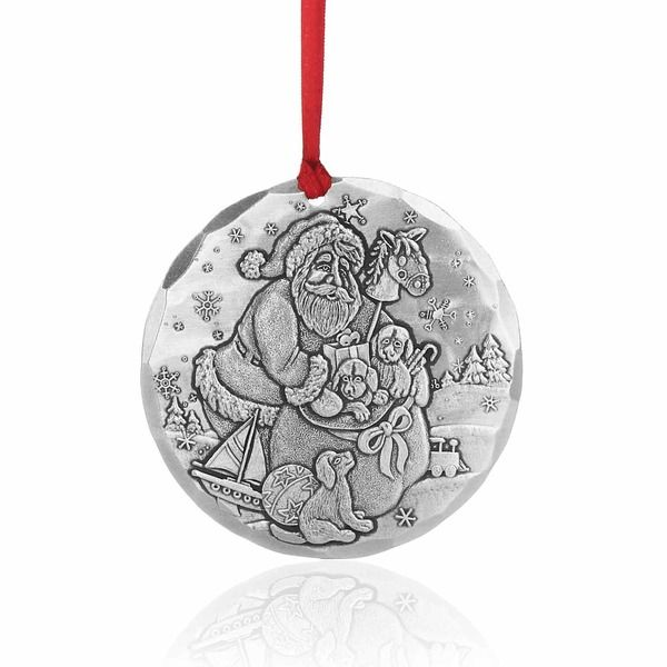Puppies for Christmas Ornament from Wendell August - Puppies For Christmas Ornament - Aluminnum Christmas Pinterest