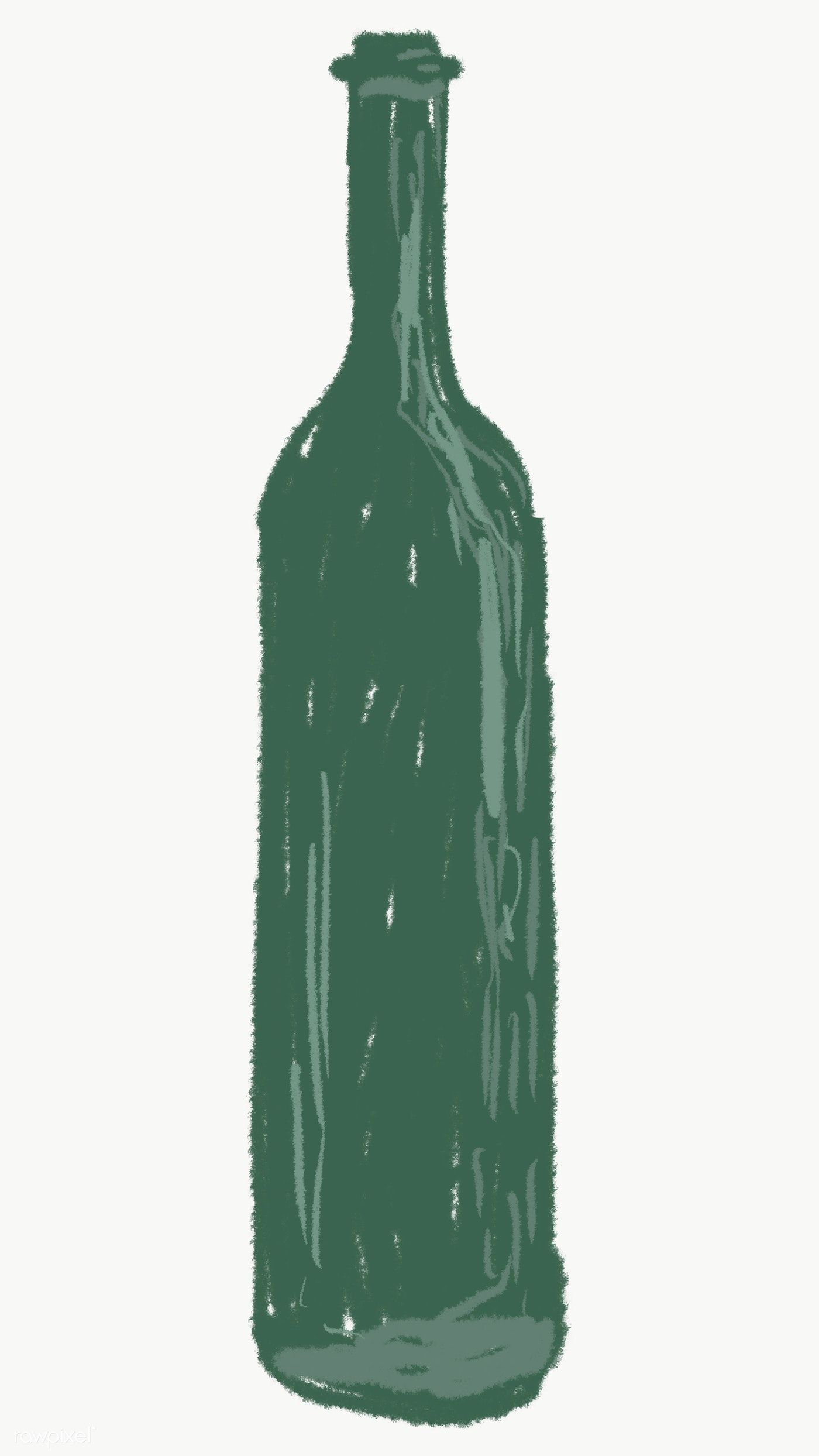 Green Glass Bottle Element Transparent Png Free Image By Rawpixel Com Sasi Green Glass Bottles Green Glass Brown Glass Bottles