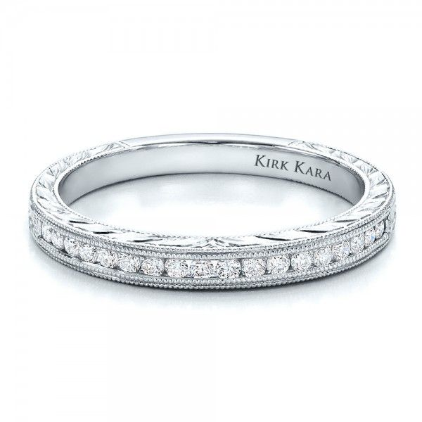 Channel Set Diamond Band with Matching Engagement Ring - Kirk Kara | Joseph Jewelry Seattle Bellevue