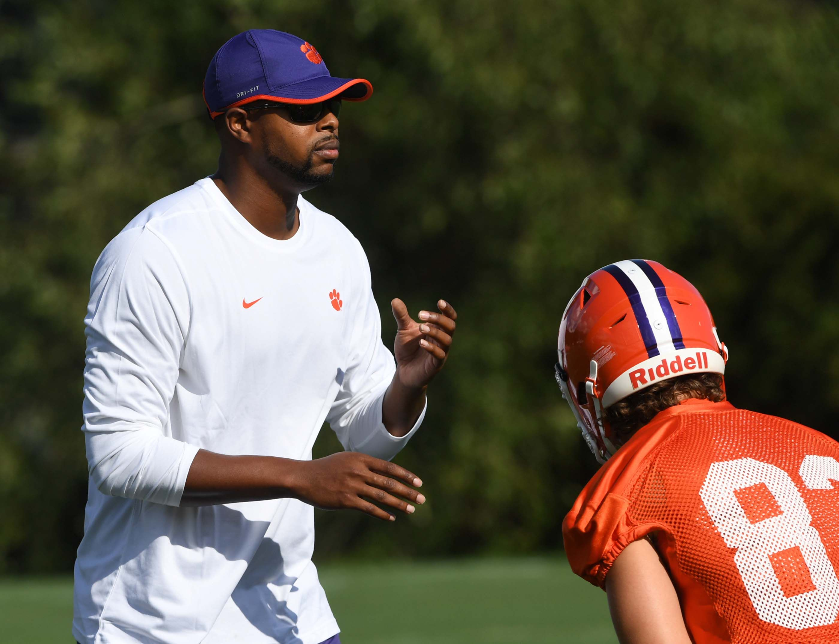 Clemson graduate assistant Xavier Dye joins Neal Brown's