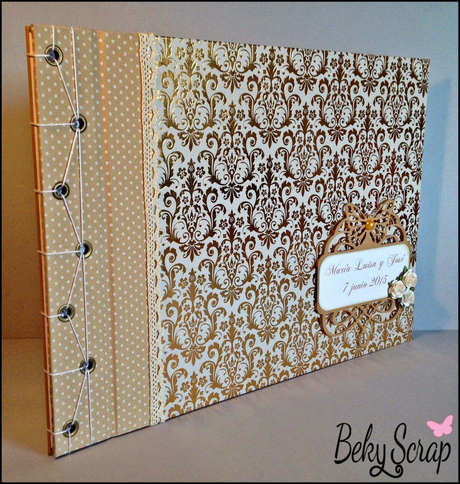 Beky Scrap: Libro de firmas boda M. Luisa y Jose