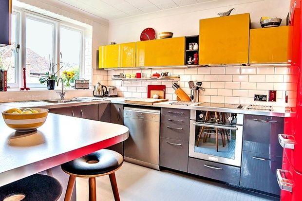 Image Result For Jarsta Orange Kitchen Ikea Cuisine Jaune Cuisine Deco