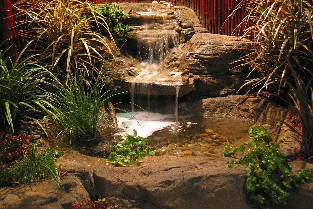 How to build artificial rock pool waterfall water for Artificial pond water