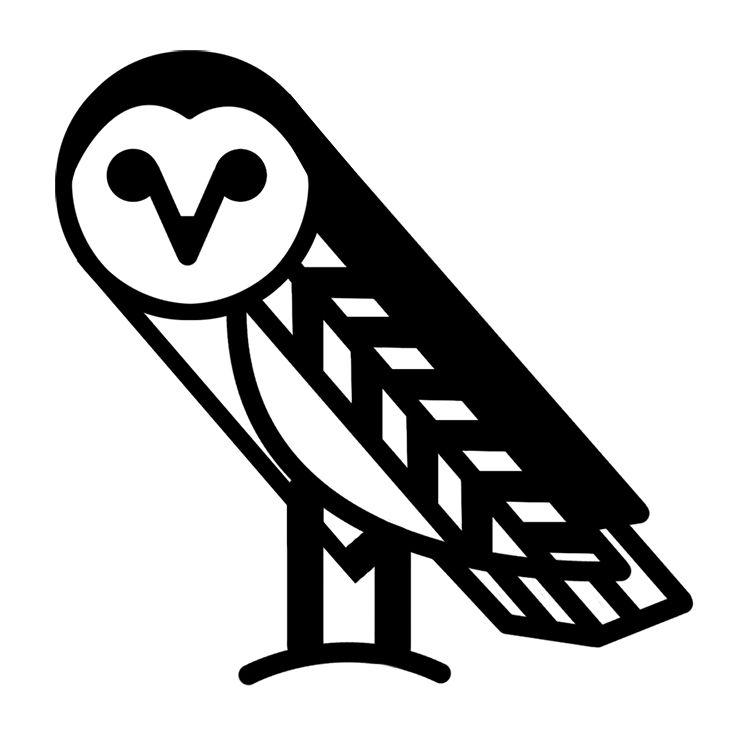owl icon - Google Search | Owl logo, Black and white owl ...