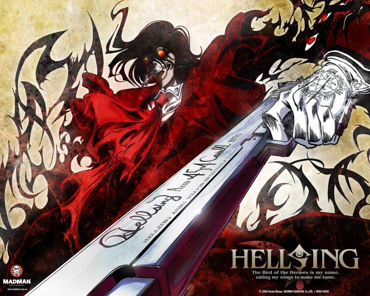 Hellsing ultimete OVA Pode considerar como um clássico macabro é um dos meus favoritos, ascita vale apena, muito mas muito saque