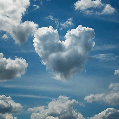 Message in the Clouds! Heart Cloud Hanging in the Sky!