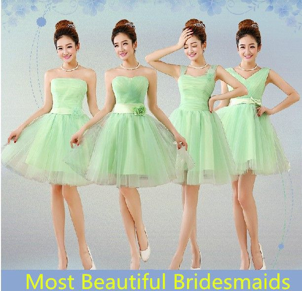 Find More Information about Mint Green Bridesmaid Dresses Short ...