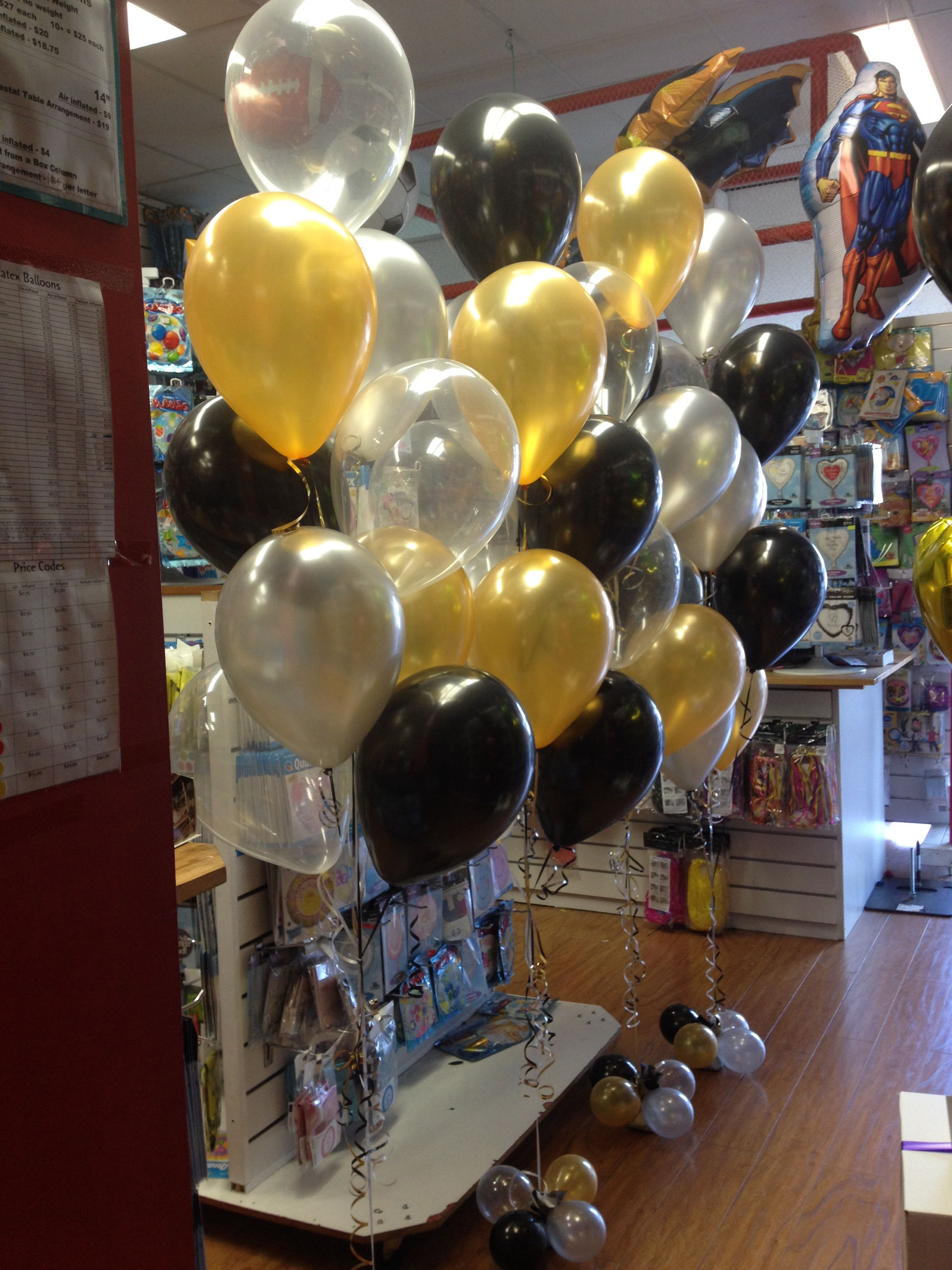 Birthday Decorations Party Ideas 9 Balloon Floor Arrangements In Gold,