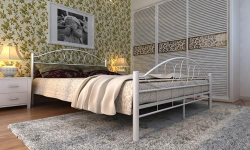 łóżko Metalowe łoże 180x200 Ze Stelażem Mtbt042 Sypialnia