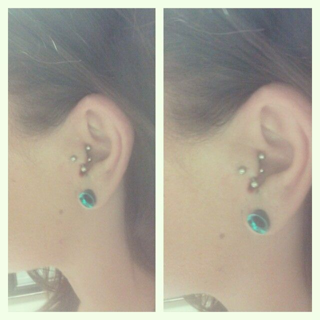 Vertical and Horizontal Tragus. | Piercings | Pinterest ...