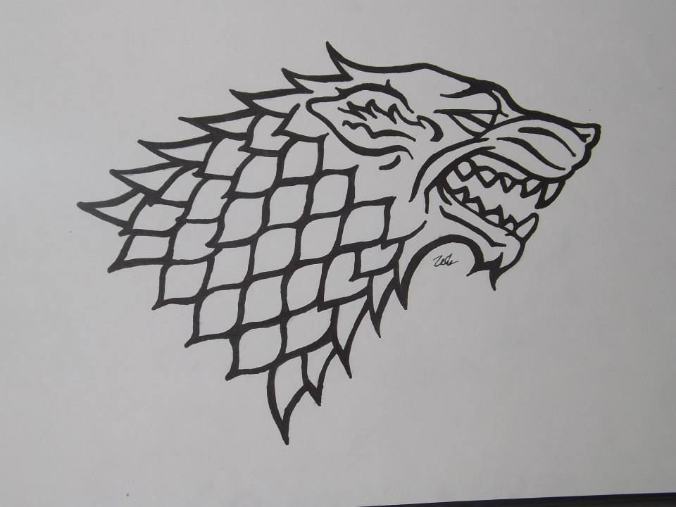 House Stark Symbol Tatuagem Game Of Thrones Casa Stark Designs De Tatuagem