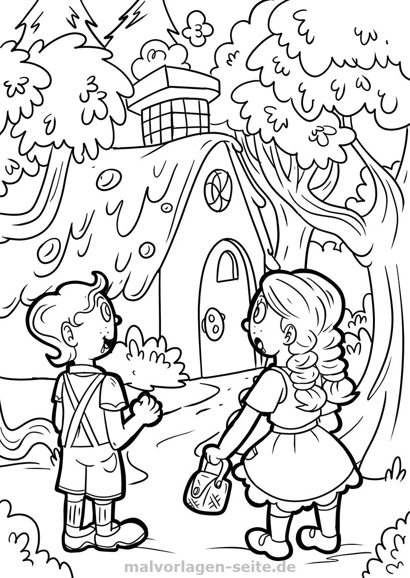 Malvorlage Hansel Und Gretel Marchen Mandala Malvorlagen Ausmalbilder Hansel Und Gretel Marchen