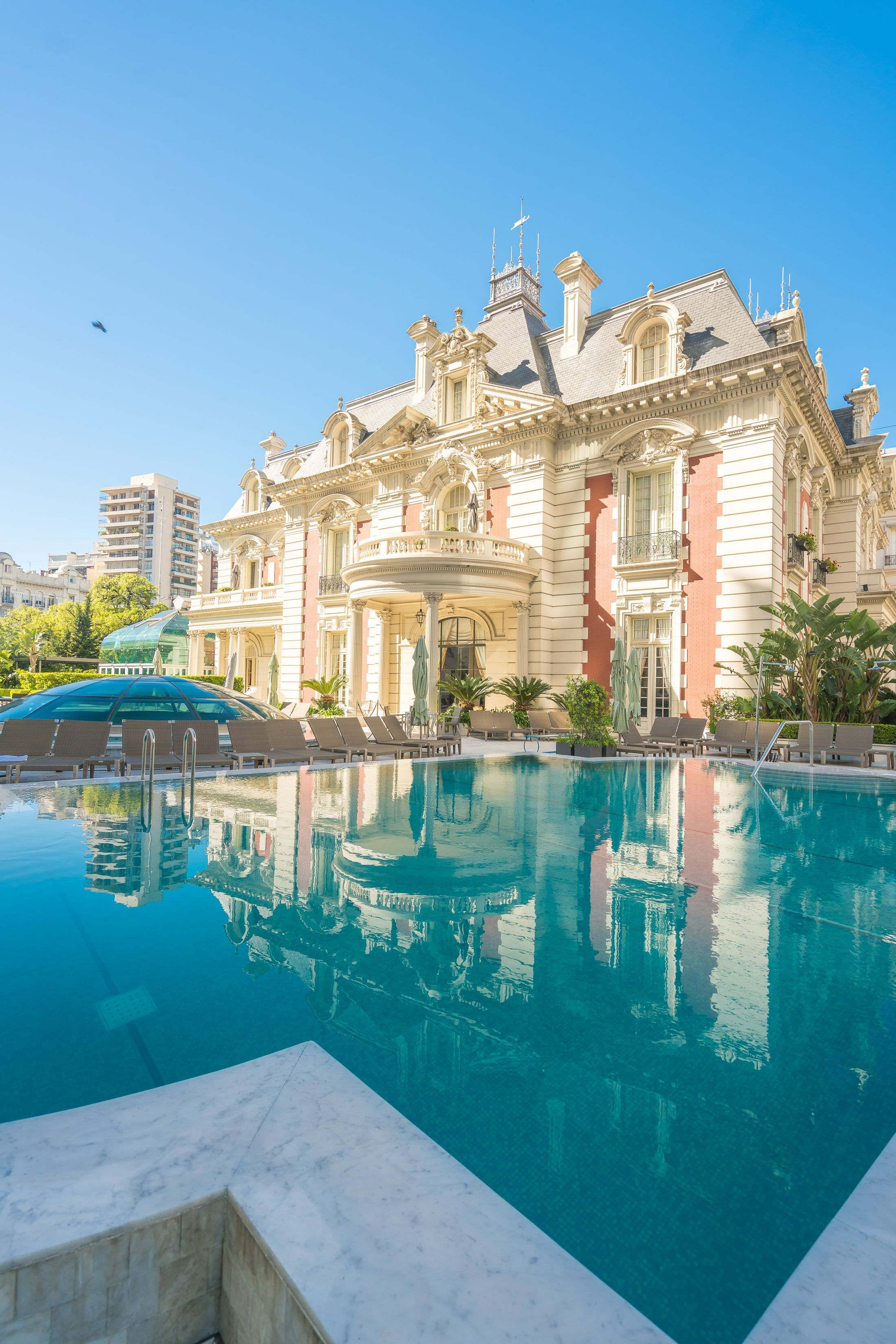 Four Seasons Hotel Buenos Aires In Argentina Has Luxury Suites In An  Adjacent Belle Époque Mansion Overlooking The Pool.