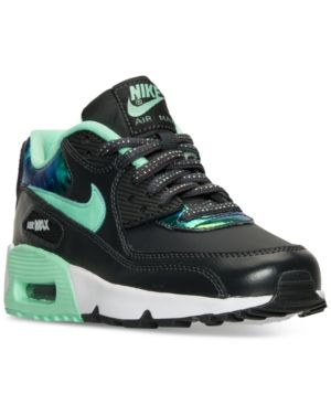 bf897f0174 Nike Girls' Air Max 90 Se Leather Running Sneakers from Finish Line - Black  6.5