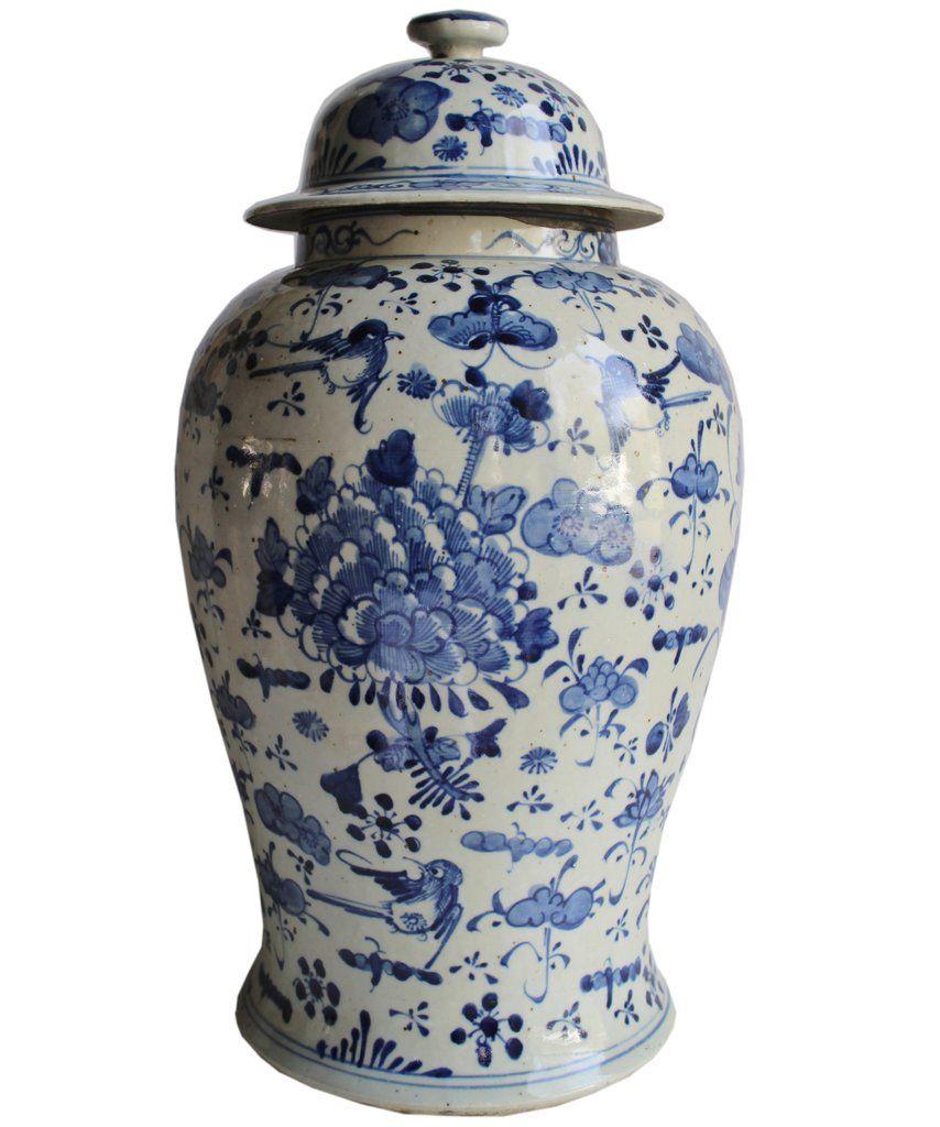 Large Blue White Fl Ginger Jar Must Haves