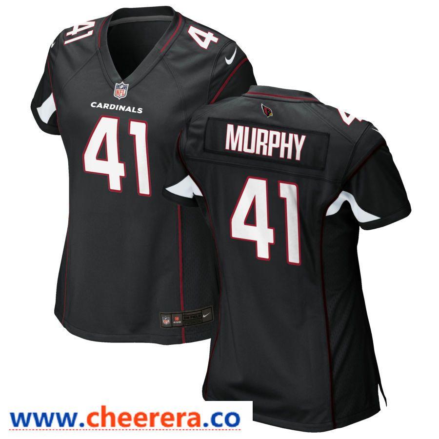 c4bb61d6f76 Men's Nike Arizona Cardinals #41 Byron Murphy Black Limited Vapor  Untouchable Jersey