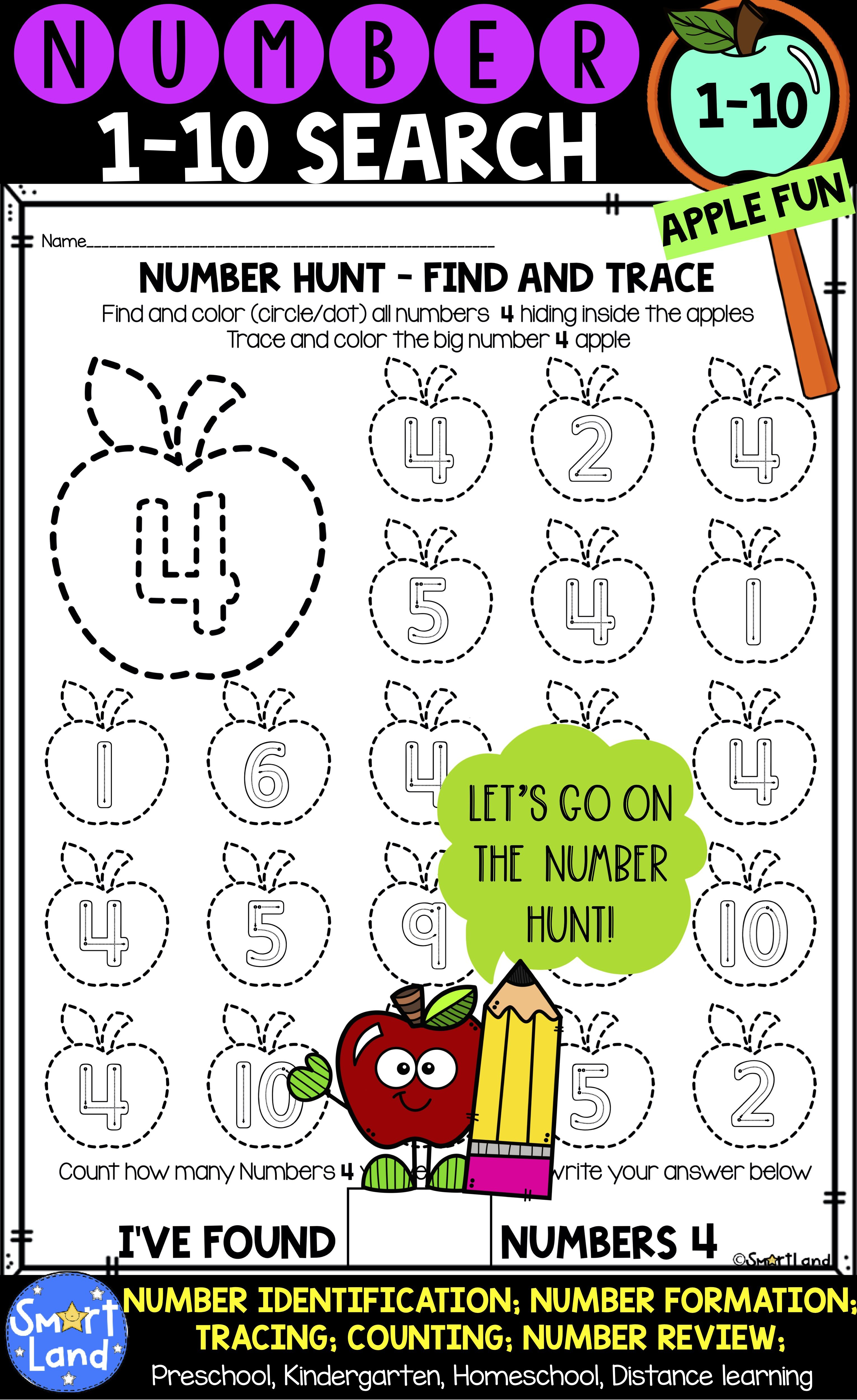 Number practice 110_number search_apples distance