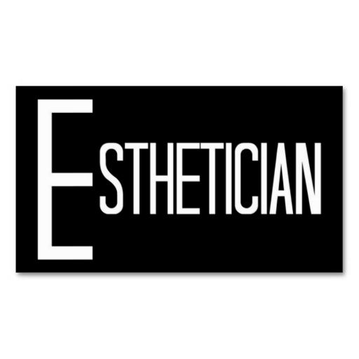 Esthetician black and white business card pinterest business esthetician black and white business card this is a fully customizable business card and available on several paper types for your needs wajeb Gallery
