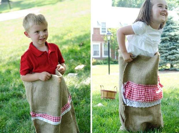 Potato sack race....cute!