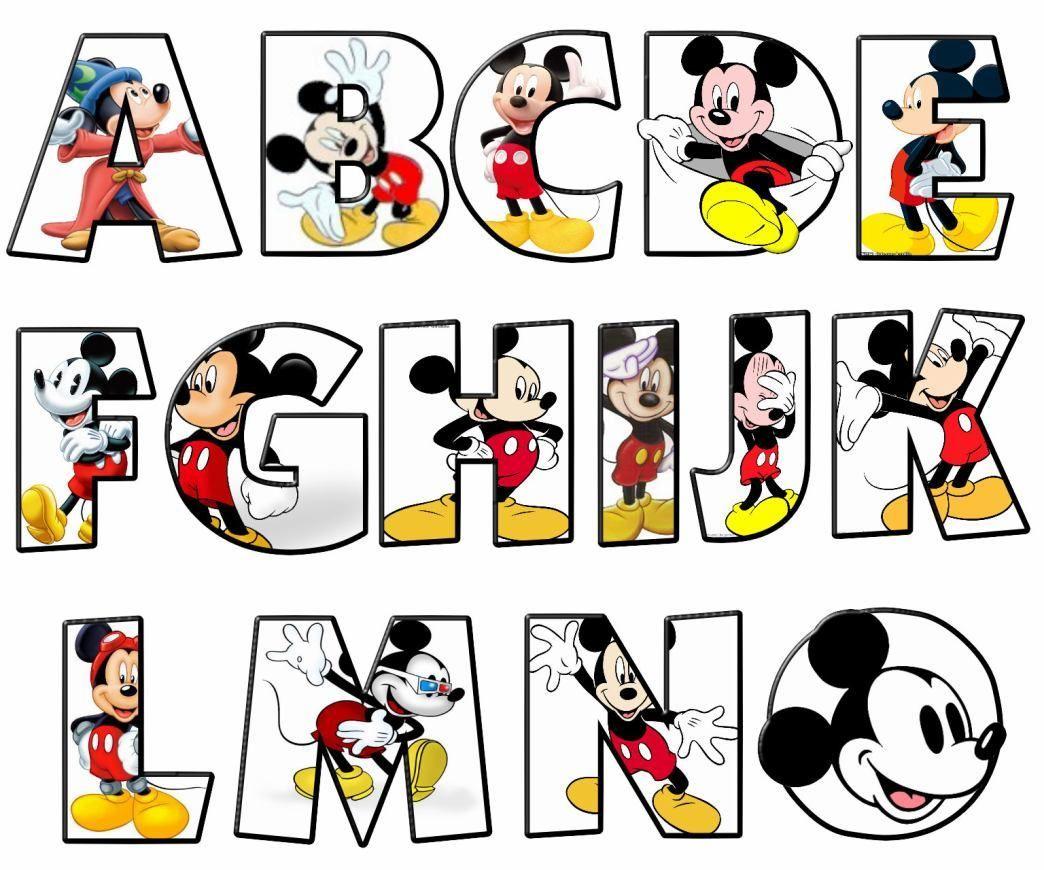 letras mickey mouse para imprimir - Buscar con Google | Minnie mouse ...