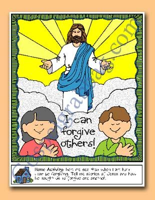 I Can Forgive Others Poster Or Coloring Page Sunbeam Lessons