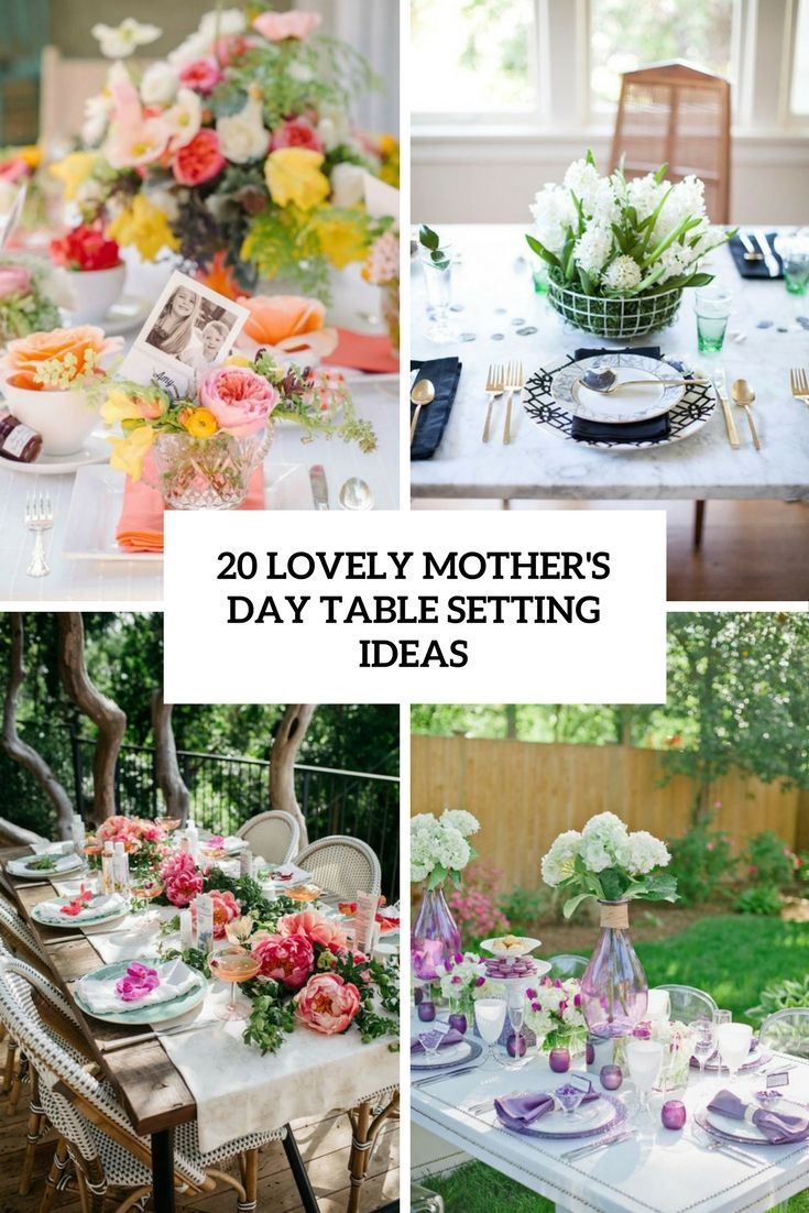 20 Lovely Mother S Day Table Setting Ideas Mothers Day Decor