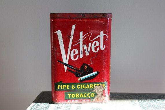 Velvet Tobacoo Tin by madjoy22 on Etsy
