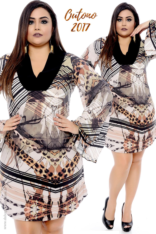 73ba673f6bba09 Vestido Plus Size Jacqueline - Coleção Outono Inverno Plus Size ...