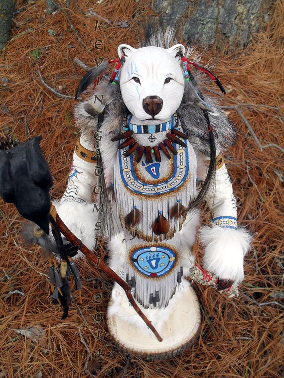 Spirit Bear Manitou spirit or totem by FreedomGallery on Etsy, $955.00