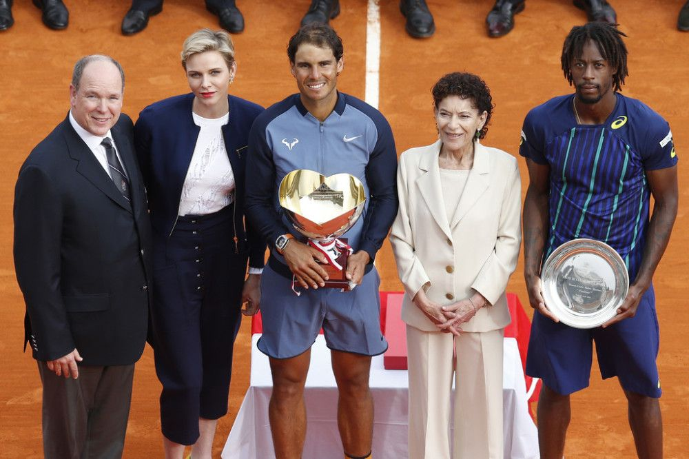 (AP) World No. 5 Rafael Nadal won a ninth Monte-Carlo title and record-equalling 28th Masters crown with a hard-earned 7-5, 5-7, 6-0 victory over Gael Monfils. It is the 68th singles title of Rafa&…