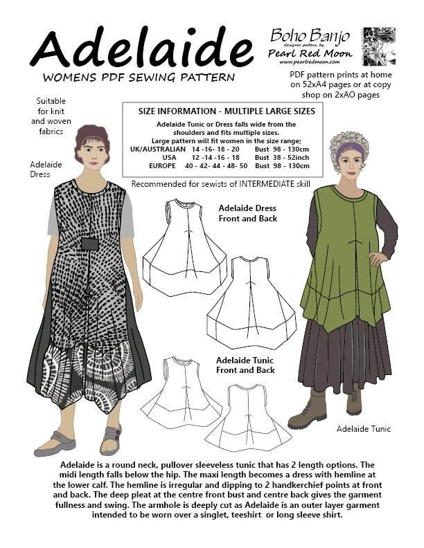 Adelaide (Large sizes) PDF sewing pattern   Pinterest   Nähen