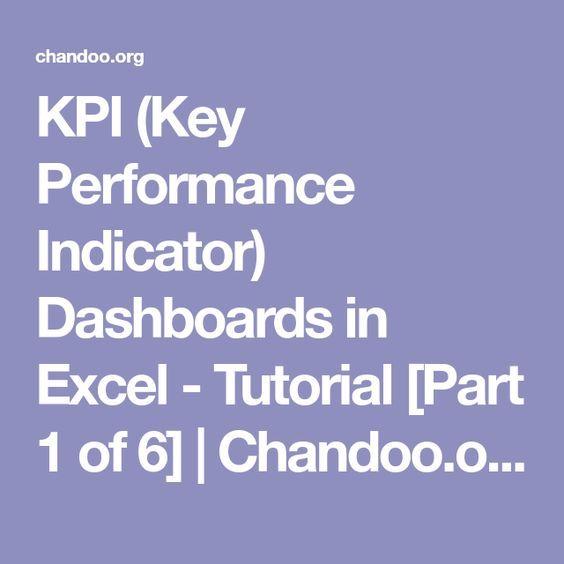 KPI (Key Performance Indicator) Dashboards in Excel - Tutorial Part - kpi spreadsheet template