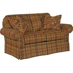 Broyhill   Erickson Loveseat In Brown Plaid   6482 1Q BR | Great Furniture