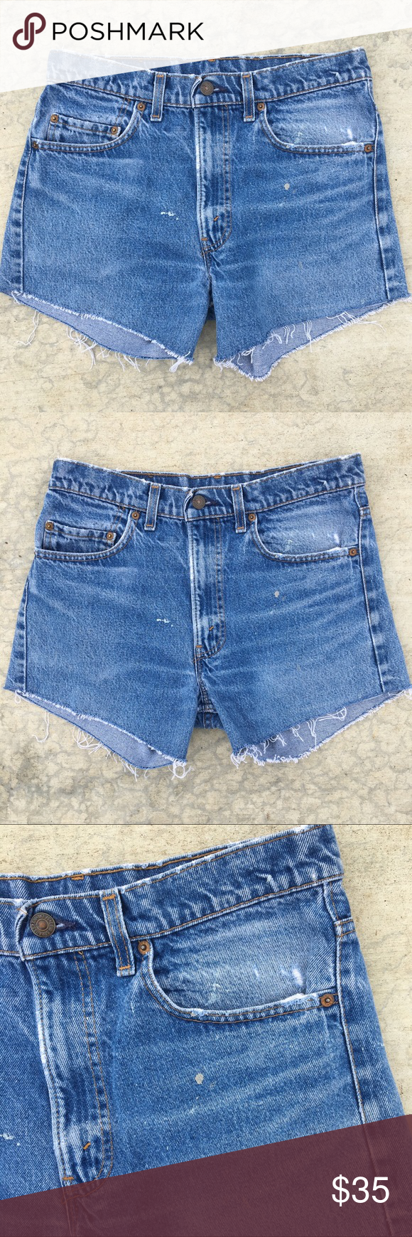28776959 Vintage Levi's Shorts 80s vintage cutoff Levi's 505 shorts . They're in great  condition