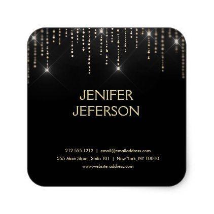 Sparkles business name sticker salon gifts style unique ideas