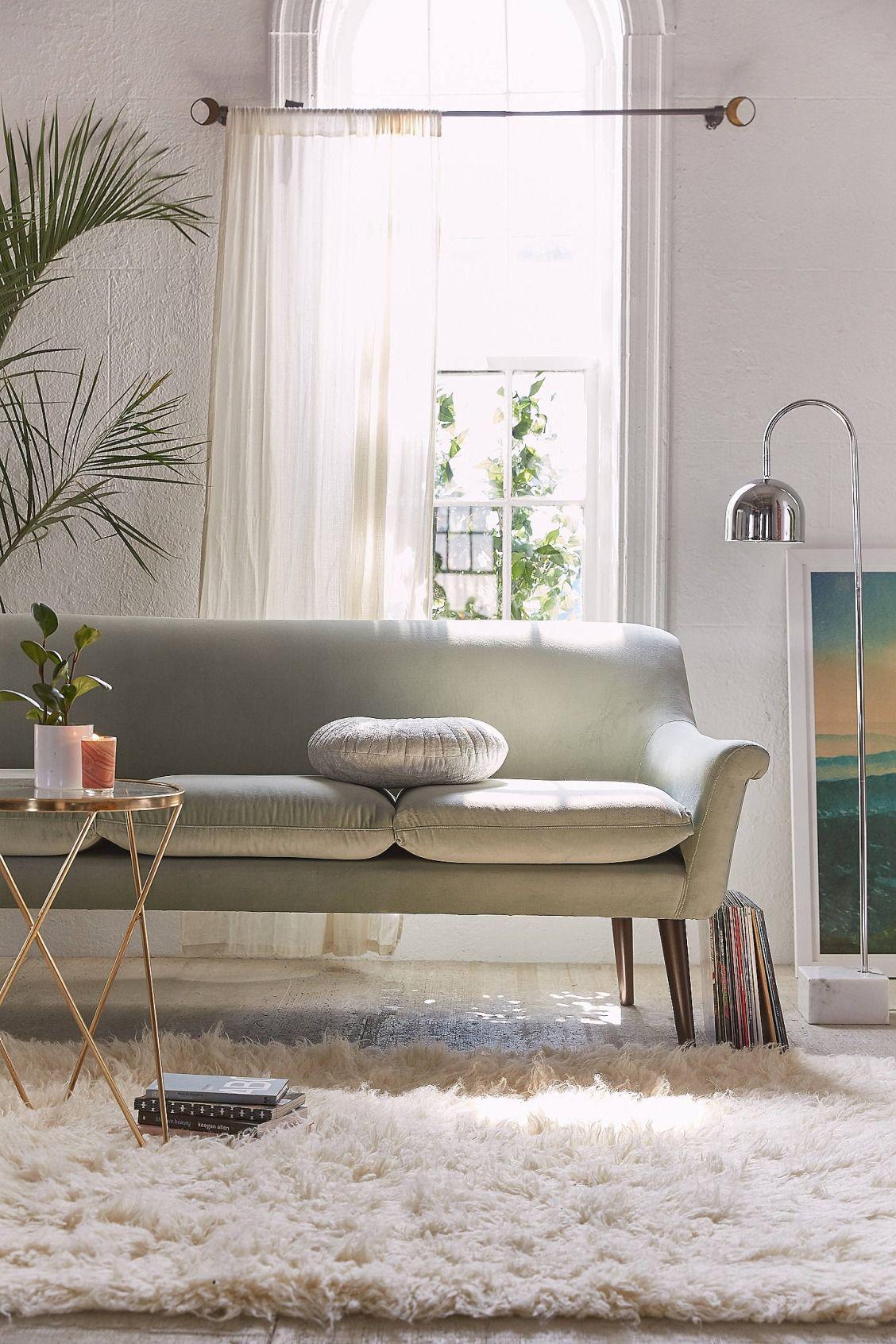 Eleanor Velvet Sofa With Images Modern Sofa Designs Living Room Decor Living Room Sofa