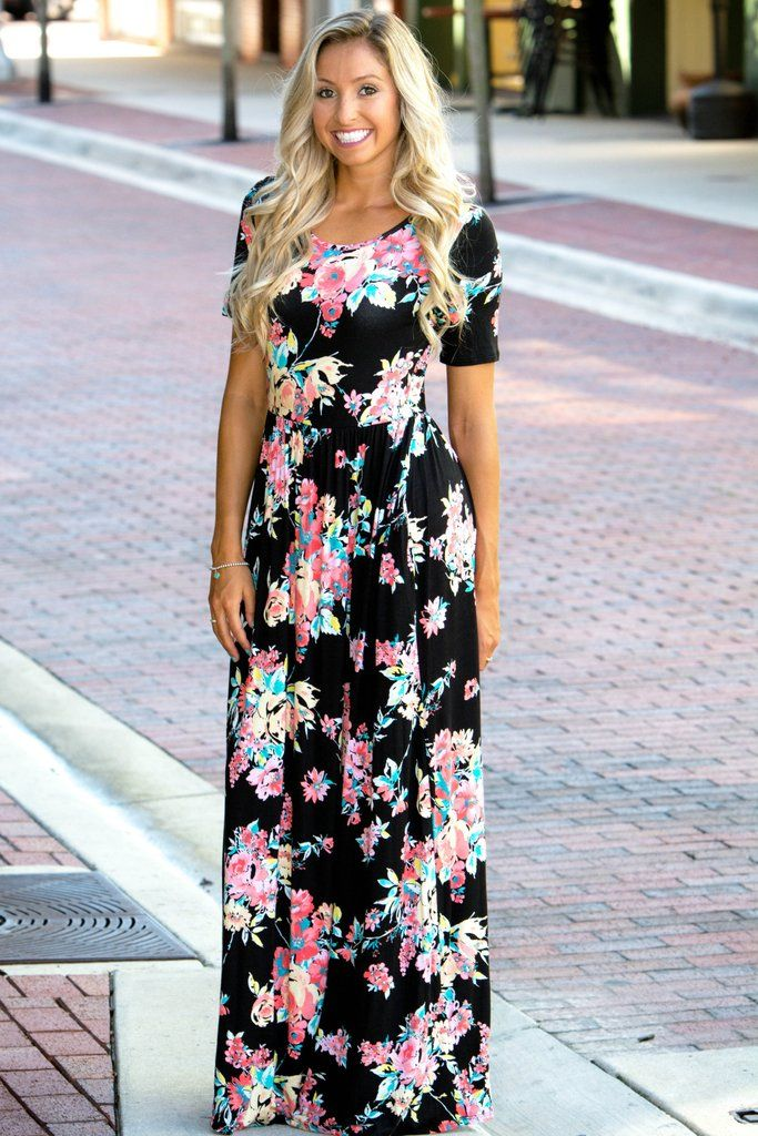 77068a4ea9c3 Someone Like You Black Floral Maxi Dress Shop Simply Me Boutique SMB – Simply  Me Boutique