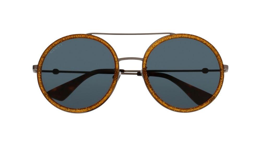 0c00f2d3ec Gucci GG0061S 004 Ruthenium Round Sunglasses