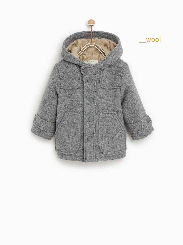 0946f78c4 WOOL DUFFEL COAT | Rylee Arabella | Kids coats, Duffle coat, Zara kids