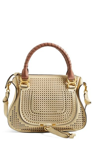 Chloé+'Small+Marcie'+Perforated+Leather+Satchel+available+at+#Nordstrom