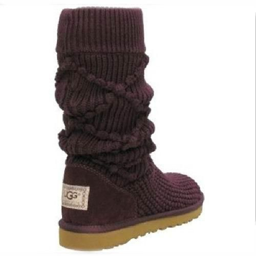 UGG Boots - Classic Argyle Knit - Purple - 5879