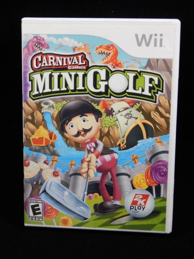 Carnival Games Mini Golf Nintendo Wii 2008 Complete Ebay