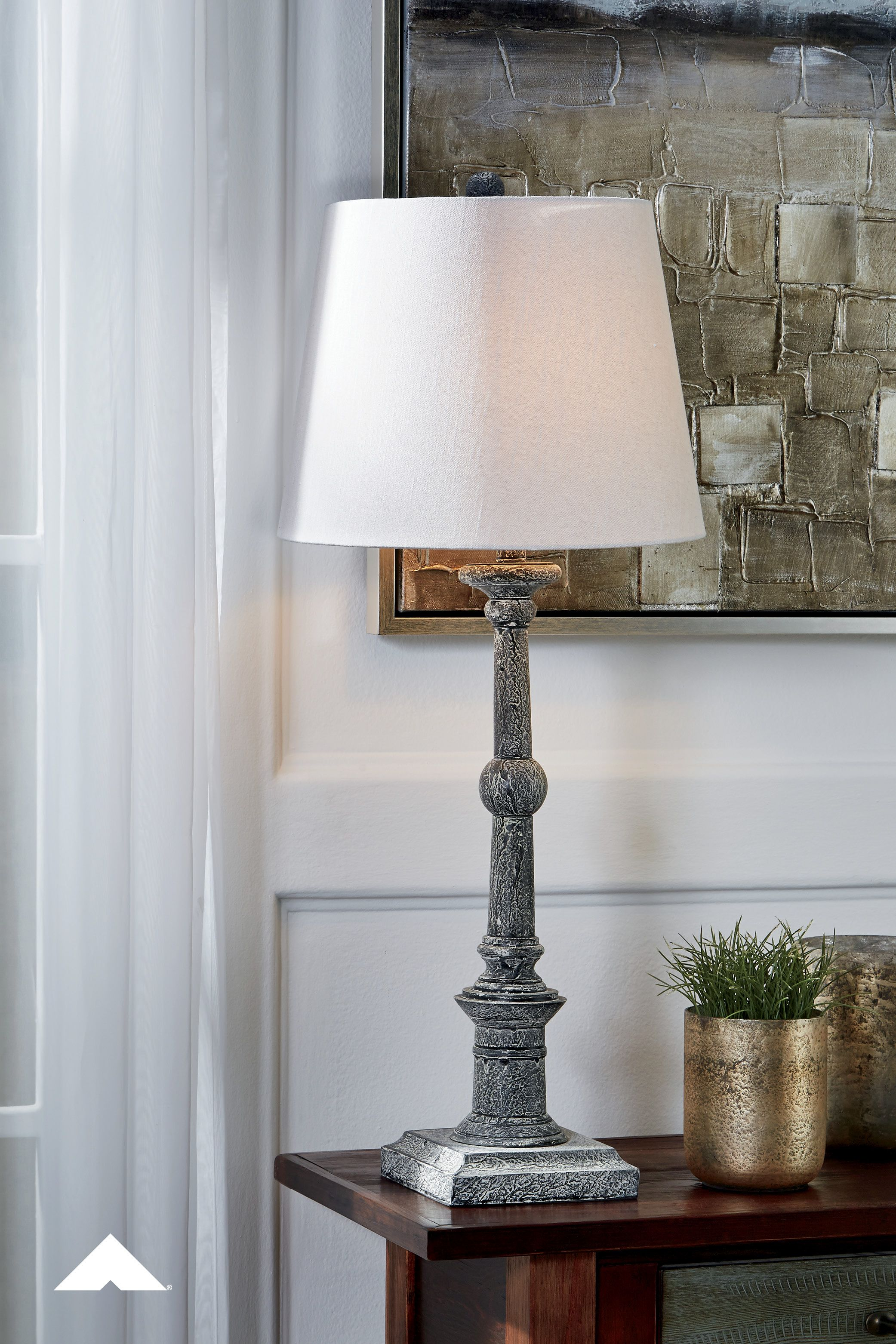 Zimba Antique Gray Lamp By Ashley Furniture Industries Inc Weathered To Perfection With Its Antique Gray Finish Table Lamp Sets Table Lamp Wood Lamp Sets