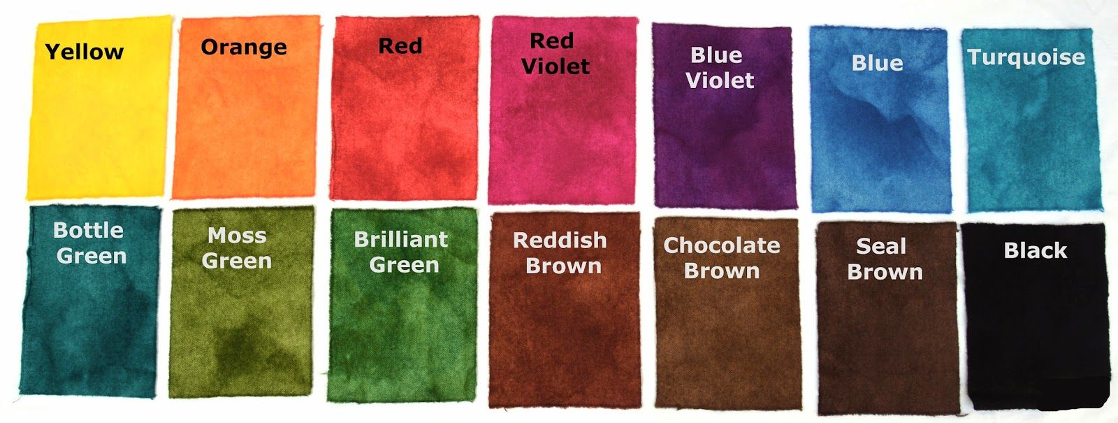 WandaWorks: Colour Chart for Majic Carpet Dyes | Hooked rugs ...