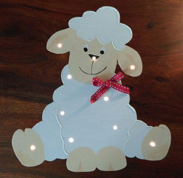 Schlummerlampen schlummerlampe schaf holz ein designerst ck von tinishop bei dawanda s gen - Wandlampe holz basteln ...